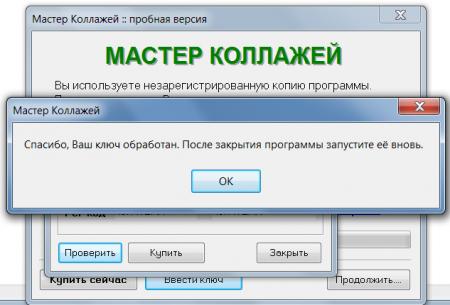 Мастер Коллажей 4.95 ключ