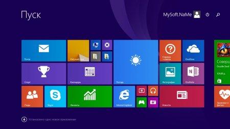 Начальный экран в Windows 8.1 в стиле Metro